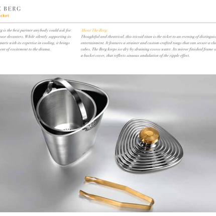 Unique pieces - The Elegant Berg :  Ice bucket with elegance - SHAZE LUXURY RETAIL PVT LTD