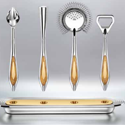 Personalizable objects - The Flying Wingmen: Exquisite Bar Tools. - SHAZE LUXURY RETAIL PVT LTD