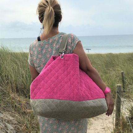 Bags / totes - LARGE BEACH BAG - PIMENT DE MER