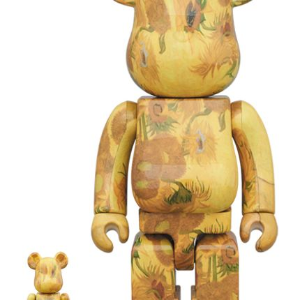 Sculptures / statuettes / miniatures - Bearbrick 100 + 400% V. Van Gogh - Sunflowers - ARTOYZ