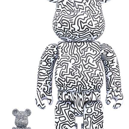 Sculptures / statuettes / miniatures - Bearbrick 100 + 400% Keith Haring #4 - ARTOYZ