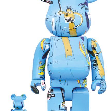Sculptures / statuettes / miniatures - Bearbrick 100 + 400% Jean-Michel Basquiat #4 - ARTOYZ