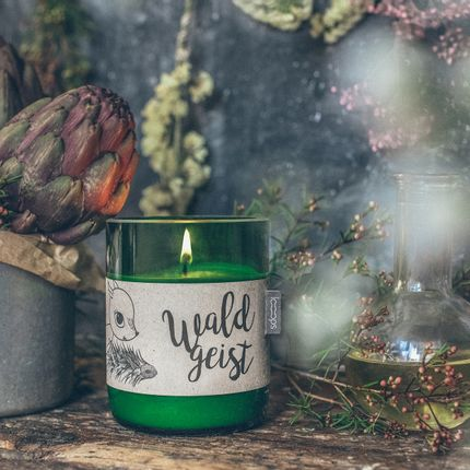 Candles - Natural scented candle WALDGEIST, 350ml - LOOOPS KERZEN