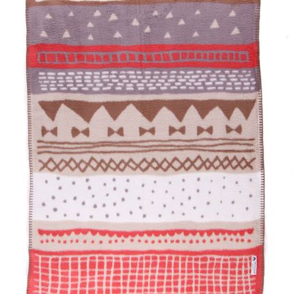 Throw blankets - BABY BLANKET STORIES FLAMINGO – ORGANIC COTTON - FABGOOSE