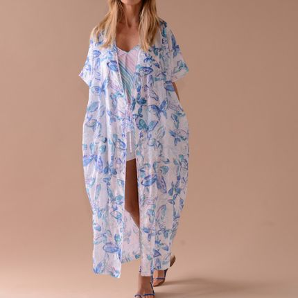 Prêt à porter - KIMONO ALBA BLUE - TEKTEK COLLECTION