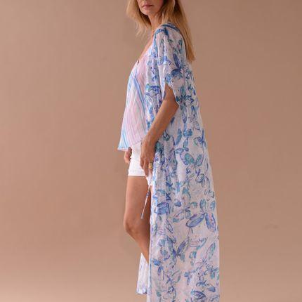 Ready-to-wear - KIMONO ALBA BLUE - TEKTEK COLLECTION
