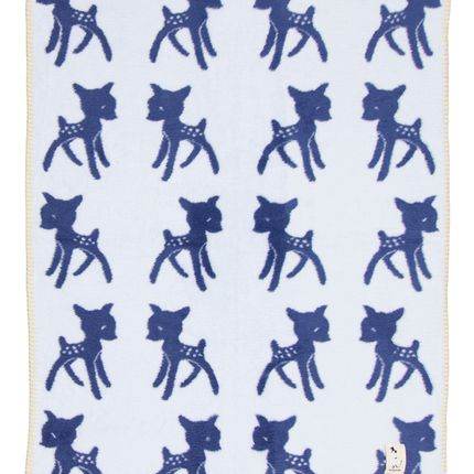 Decorative items - BABY BLANKET Bambi BLUE – ORGANIC COTTON - FABGOOSE