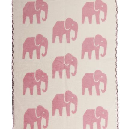 Throw blankets - Super soft blanket for baby and kids with Elephants - pink - FABGOOSE