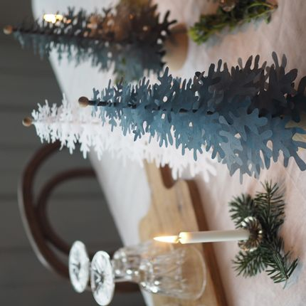 Christmas decoration - Jeans blue Christmas tabletop paper ornaments - FABGOOSE