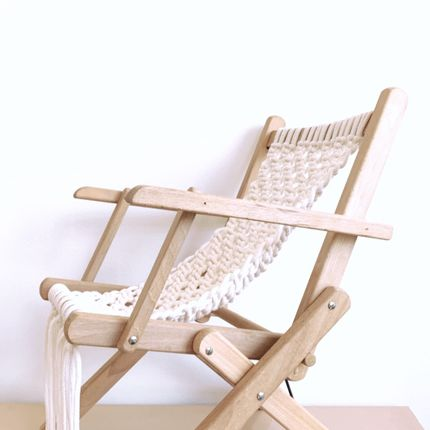 Chairs - Vintage deckchair in macrame - LES LOVERS DECO