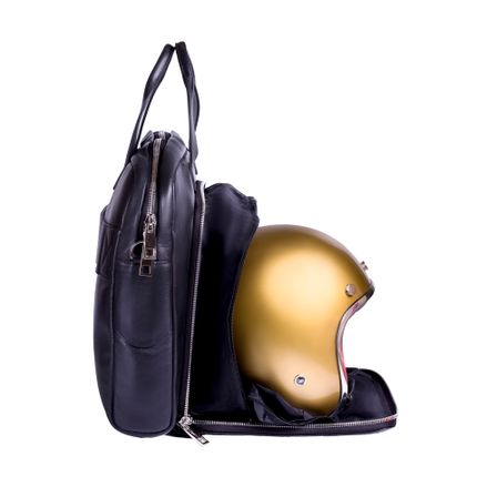 Bags / totes - Black leather Briefcase & Helmet bag - DALZOTTO