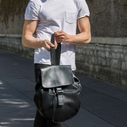 Bags / totes - Black leather Shoulder bag - DALZOTTO