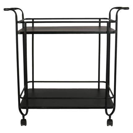 Coffee tables - Cart 2 shelves H76 black - LAUVRING