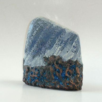 """Céramique - Stèle """"Black mountain"""" - ELISABETH BOURGET"""