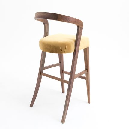 Stools - Udi bar chair walnut - ARIANESKÉ