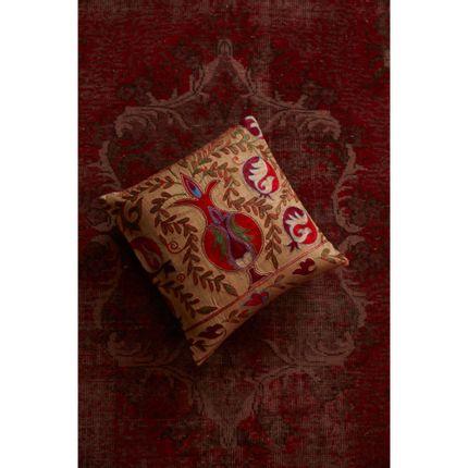 Cushions - Taj Mahal Silk Suzani Ikat Double Sided Heritage Design Cushion  - HERITAGE GENEVE
