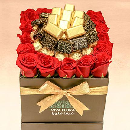Gift - Everlasting Love : Roses & Chocolates - VIVA FLORA