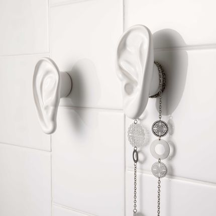 "Design objects - "" Walls have ears ""  Coat-hooks / Wall hooks - MADE IN WAW !"