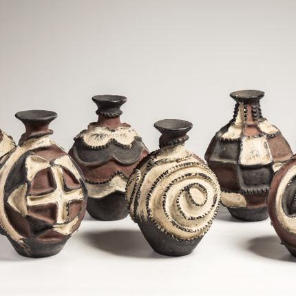 Unique pieces - Polychromatic ritual potteries, Twa Uganda - KANEM