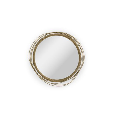 Mirrors - Kayan Round Mirror - COVET HOUSE