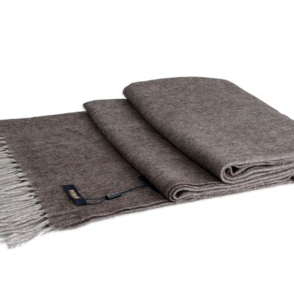 Throw blankets - Herringbone yak throw - ERDENET CASHMERE LLC