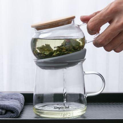 Accessoires thé / café - Ensemble de thé AIRO. Air-lock facile à brasser | infusion magique - SIMPLE LAB EXPERIENCE BY JEEP INNOVATION LTD.