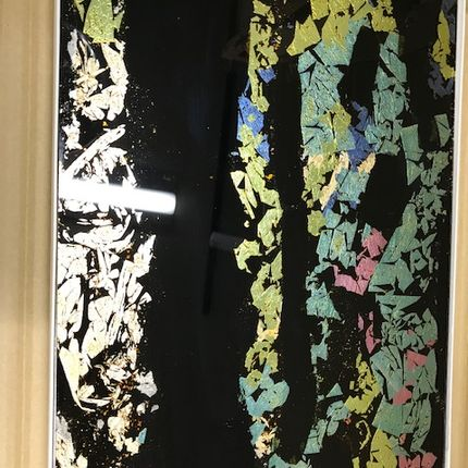 Wall decoration - Glass panel coated with urushi lacquer - RHUS