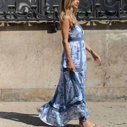 Prêt à porter - AMBRE BLUE DRESS - TEKTEK COLLECTION