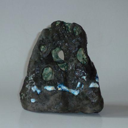 Céramique - Stéle noire - ELISABETH BOURGET