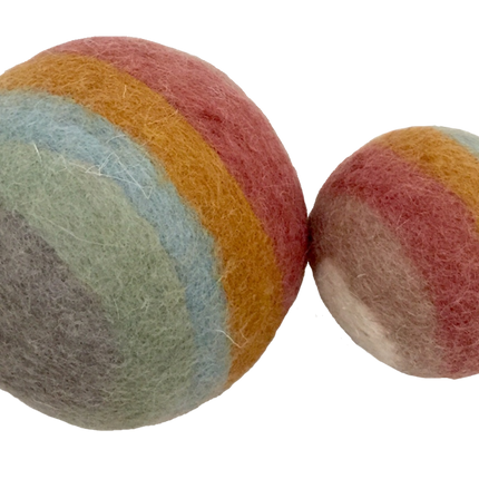 Toys - Earth Rainbow Balls-2pc - PAPOOSE TOYS