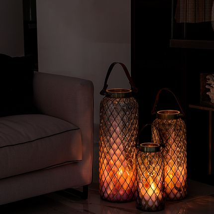 Objets de décoration - Lanterne Nero Original - MDINA GLASS