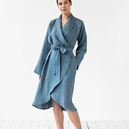 Bath towel - Linen bath robe in various colors - MAGIC LINEN