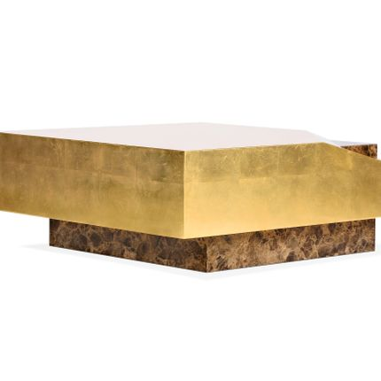 Coffee tables - AFONSO GOLD CENTER TABLE - ROYAL STRANGER