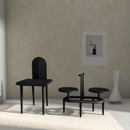 Chaises - Chaise et table basse, Studio One Plus Eleven - 1+11 ONE PLUS ELEVEN