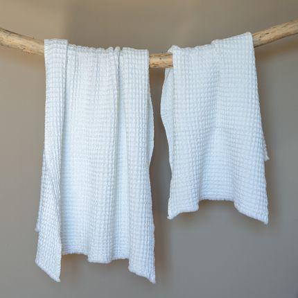 Bath linens - Waffle Cotton Hand Towel - MAISON D'ÉTÉ
