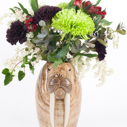 Vases - Walrus Flower Vase - QUAIL DESIGNS
