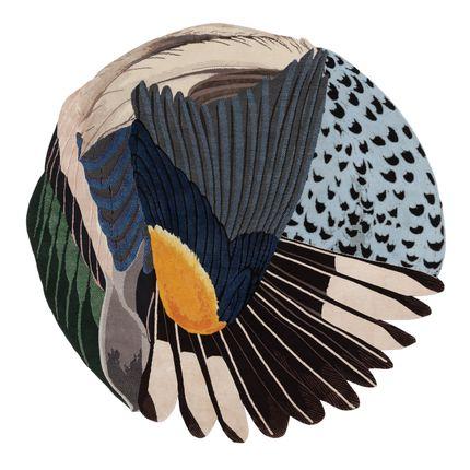 Sur mesure - Feathers Round - CC-TAPIS