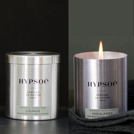 Personalizable objects - ICONIC SCENTED CANDLE IN ALUMINIUM BOX - HYPSOÉ - PARFUMS DE MAISON