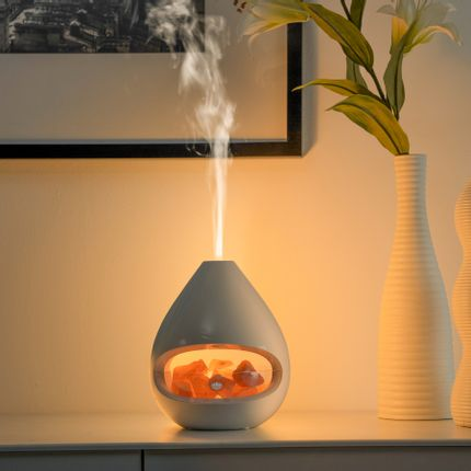 Scent diffusers - Glo-Himalayan salt lamp combined with aroma diffuser - MADEBYZEN