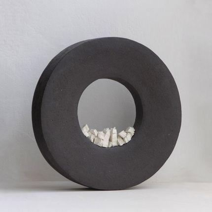 Sculpture - Anneau Noir Caillou - ATELIERNOVO