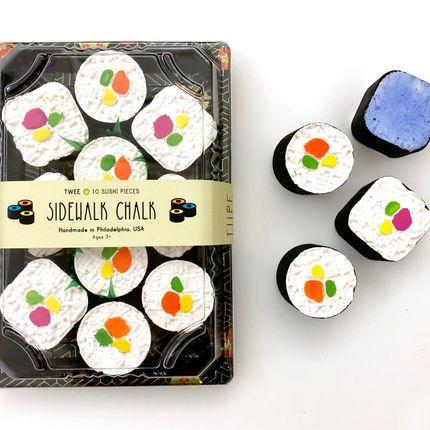 Loisirs créatifs - TWEE Sushi Maki Rouleau de craie pour trottoir - TWEE