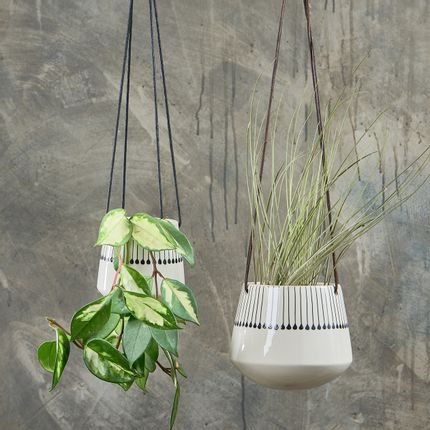 Floral decoration - Matamba Ceramic Hanging Planter - NKUKU