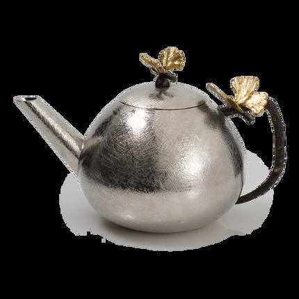 Carafes - Butterfly Ginkgo Round Teapot - MICHAEL ARAM
