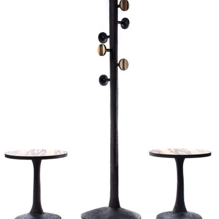 "Walk-in closets - coat rack & side tables - ""Vegetable Sculpture"" - JULIEN LACHAUD ÉBENISTE"