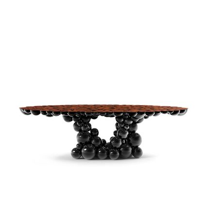 Tables - Newton Black Walnut Dining Table  - COVET HOUSE