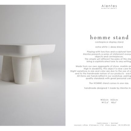 Platter, bowls - HOMME sculptural display stand / platter - ALENTES