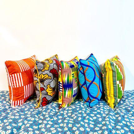 Coussins - Coussins colorés en wax  - COUSSIN D'AFRIQUE