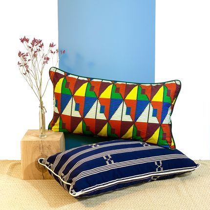 Cushions - Cocodji cushion woven in Togo - COUSSIN D'AFRIQUE