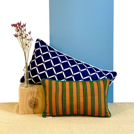 Cushions - Tai cushions woven in Togo - COUSSIN D'AFRIQUE