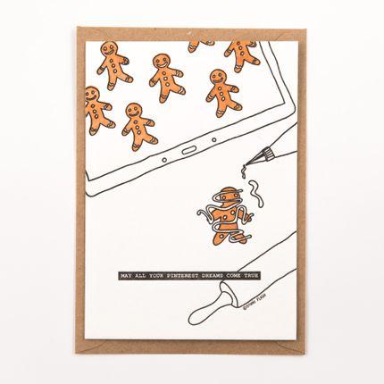 """Papeterie / carterie / écriture - """"May all your pinterest dreams come true"""" letterpress card - STUDIO FLASH"""